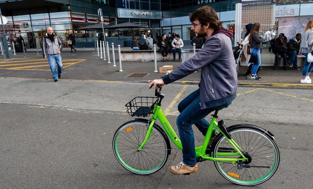 Les vélos verts Gobee bike quittent Reims