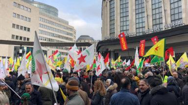 Bruxelles: manifestation kurde anti-Erdogan à la gare centrale