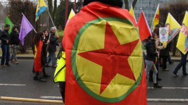 150 Kurdes manifestent à Schuman contre l'opération turque en Syrie