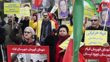 Bruxelles : près de 60 personnes manifestent contre la répression des manifestations en Iran