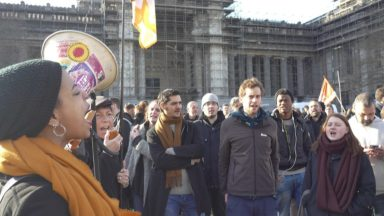 Cercle de Lorraine : près de 100 personnes manifestent contre la politique de Théo Francken