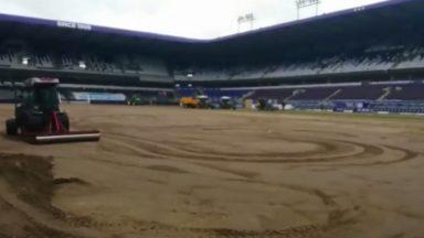 RSC Anderlecht : la pelouse du stade Constant Vanden Stock est enfin remplacée