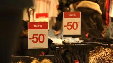 Les soldes d'hiver ont débuté ce mercredi : une hausse de 4% du chiffre d'affaires, selon Comeos