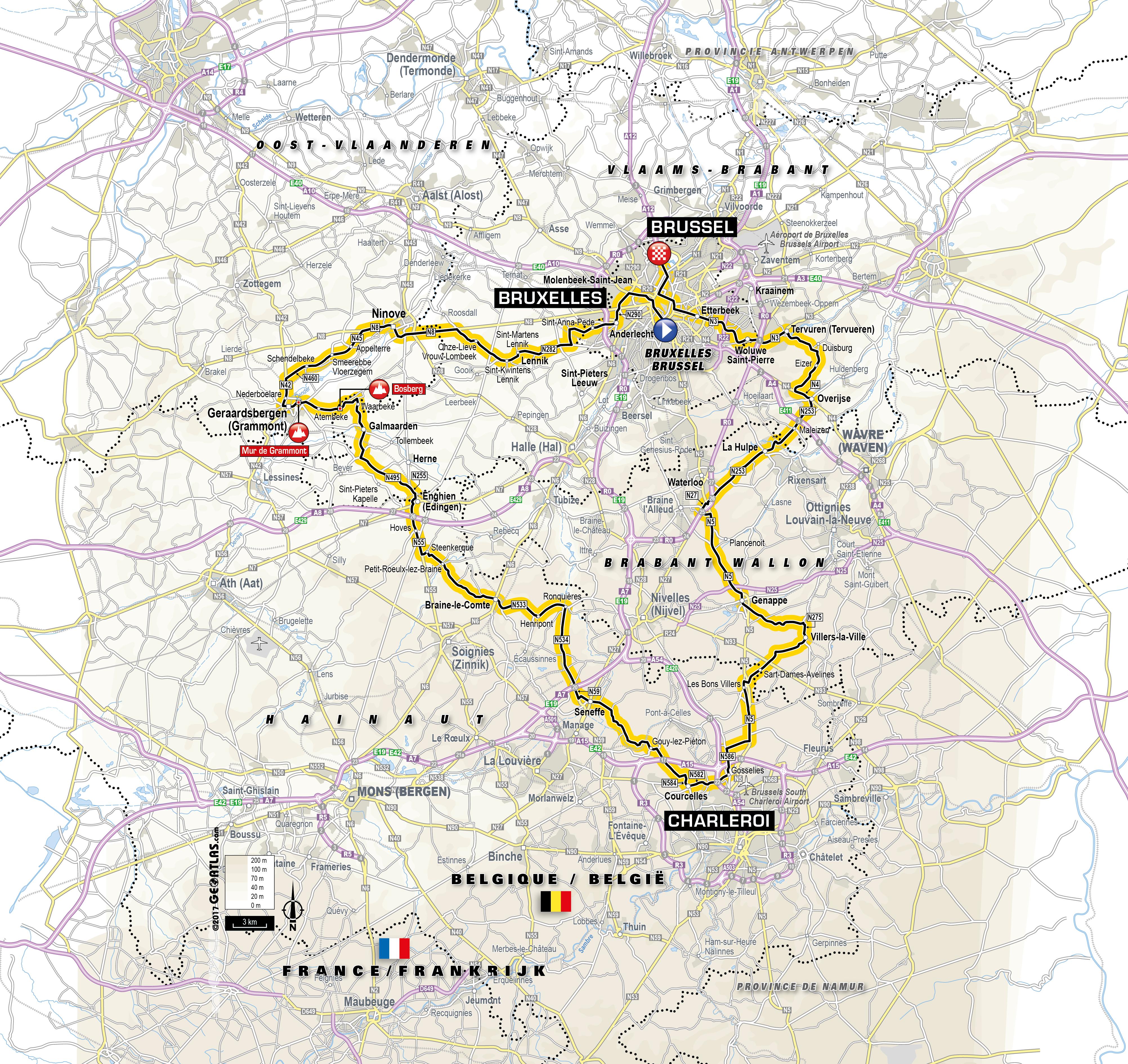 Deux étapes autour de Bruxelles en hors-d'oeuvre