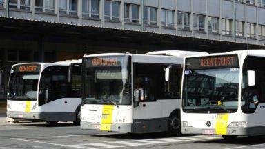 Les chauffeurs De Lijn en grève : une quarantaine de lignes reliant Bruxelles ne sont pas desservies