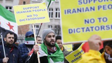 Manifestation à Bruxelles contre la venue du ministre iranien des Affaires étrangères