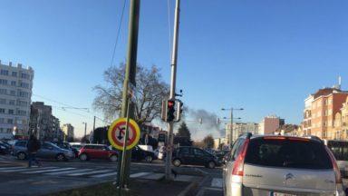 Un incendie s'est déclaré près de la gare de formation de Schaerbeek