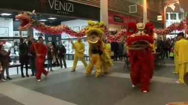 Nouvel an chinois dans la galerie Anspach