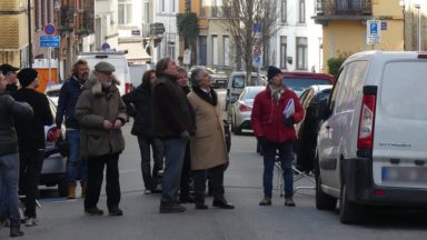 Christian Clavier, Gérard Depardieu et Edouard Baer en tournage en Région bruxelloise