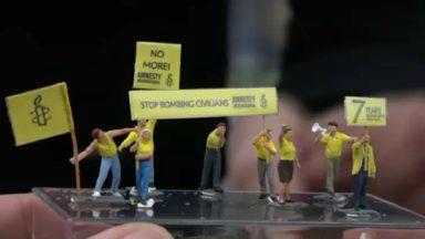 "Amnesty organise ""la plus petite manifestation"" devant l'ambassade de Syrie"