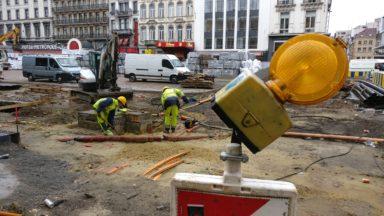 Les travaux du Piétonnier s'accélèrent au niveau de la place de Brouckère