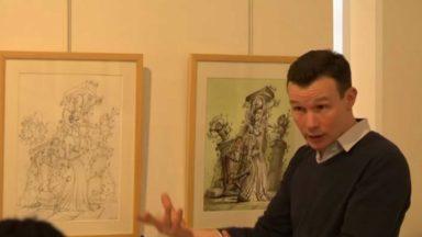 Le dessinateur Jonathan Bousmar dévoile ses œuvres à ses élèves et au Rouge-Cloître