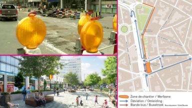 Les travaux de l'esplanade Madou ont débuté : circulation déviée