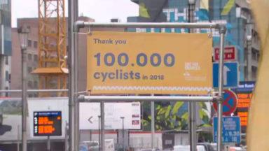 Bruxelles : 100.000 cyclistes ont passé le compteur de vélos de la rue de la Loi