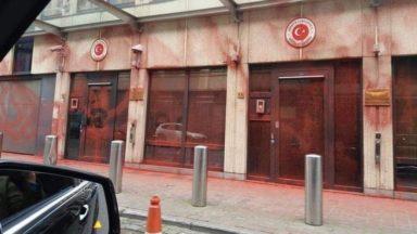 L'ambassade de Turquie à Bruxelles vandalisée ce week-end