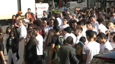 Action des écoles secondaires de la Ville de Bruxelles pour sensibiliser sur le harcèlement scolaire