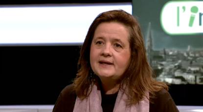 """Julie de Groote (CDH) à propos de la sortie du code pénal de l'avortement dans l'émission """"L'interview"""" sur BX1"""