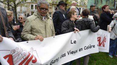 """Le """"Gang des vieux en colère"""" manifeste pour de meilleures pensions"""