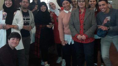 De jeunes musulmans visitent la Grande synagogue de Bruxelles