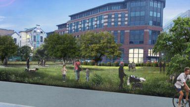 Molenbeek : Ecolo propose la création d'un parc en lieu et place du magasin brûlé à Sainctelette