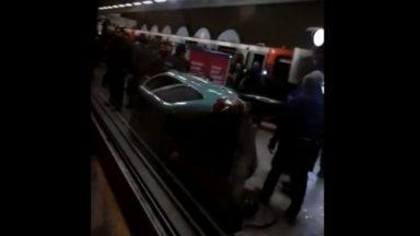 Voiture poussée dans le métro Clémenceau: le dossier est classé sans suite