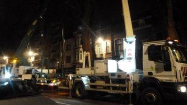 Forest : la police fait stopper l'élagage de nuit sur l'avenue Albert