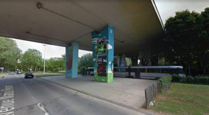 Camp de fortune installé à Anderlecht - BX1