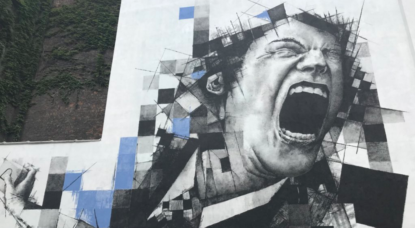 Une nouvelle fresque de l'artiste FSTN s'ajoute au parcours street art - BX1