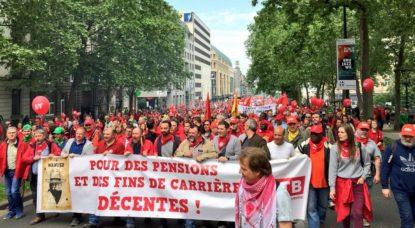 Manifestation pour les pensions : entre 55.000 et 70.000 personnes ont défilé à Bruxelles - BX1