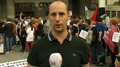Rassemblement devant la gare Centrale pour dénoncer la situation à Gaza