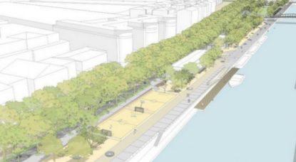 Le permis a été accordé : il y aura bien un nouveau parc sur le quai Béco et le quai des Matériaux - BX1