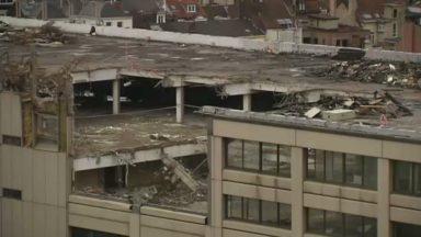 Bruxelles : le chantier de démolition du parking 58 en pause jusqu'à la mi-mai
