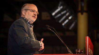 Philippe Van Muylder en meeting du PS à Bruxelles
