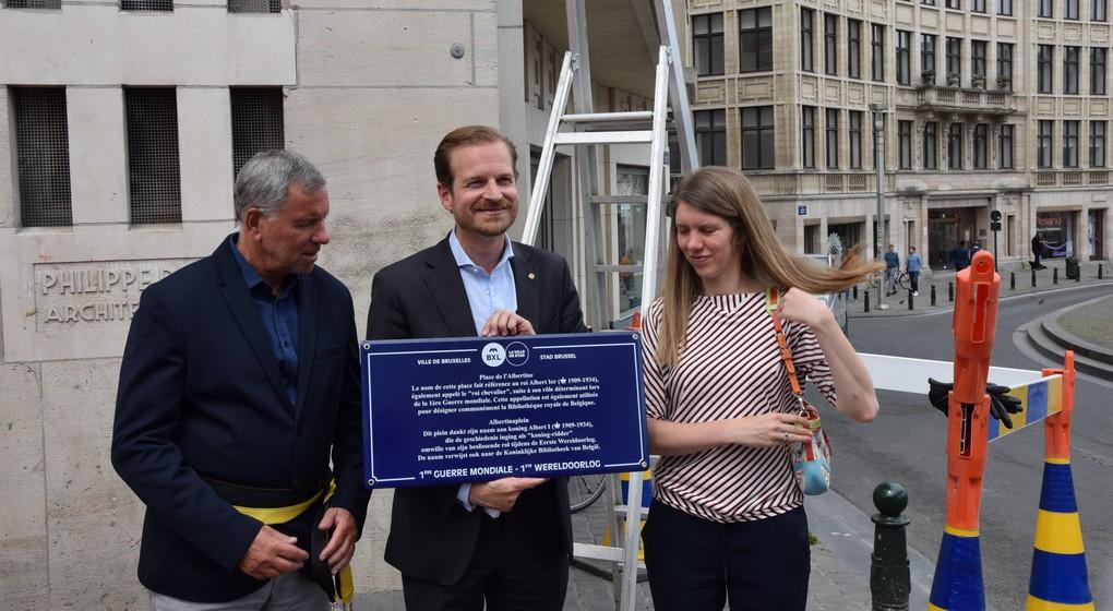 Commémorations de la 1ère Guerre Mondiale : Bruxelles installe 17 plaques de rue explicatives - BX1