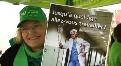 """Giuseppina, 45 ans, et Françoise, 58 ans, ont décidé de manifester : """"On ne se voit pas travailler jusque 67 ans"""" - BX1"""