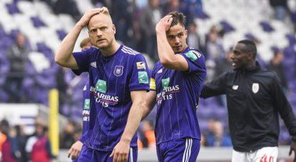 Le RSC Anderlecht en mauvaise posture en Playoffs 1 - BX1