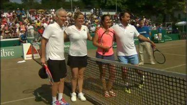 Des anciennes gloires du tennis se retrouvent sur le terrain à Uccle