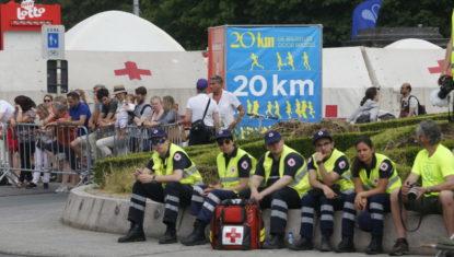 20 km de Bruxelles: environ 470 soins et une quinzaine d'évacuations vers les hôpitaux