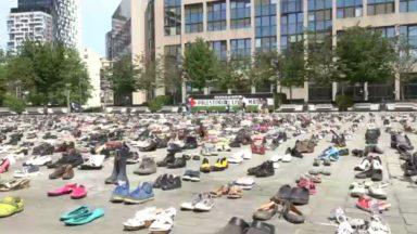 4500 paires de chaussures pour représenter les victimes du conflit israélo-palestinien devant le Conseil de l'UE