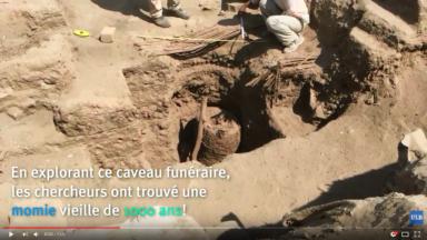 Une momie vielle de 1000 ans découverte au Pérou par des archéologues de l'ULB