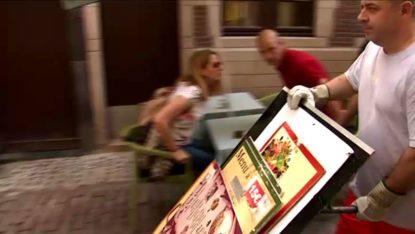 Bruxelles-ville : contre la racolage, les autorités font enlever les porte-menus illégaux de l'Îlot Sacré - BX1