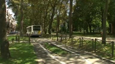 La STIB veut une bande de bus dans le parc Elisabeth