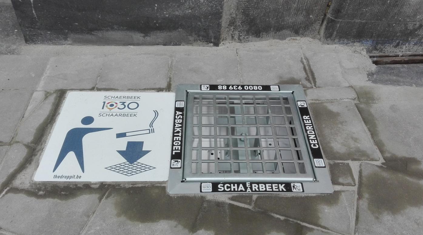 Schaerbeek installe cendriers urbains encastrés dans le sol