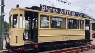 Un tram datant d'il y a plus de 100 ans est de retour au Musée du tram