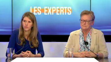 Els Ampe (VLD) et Michèle Carthé (PS) abordent la transparence en politique sur le plateau des Experts
