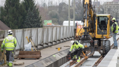 RER : reprise du chantier à Watermael-Boitsfort