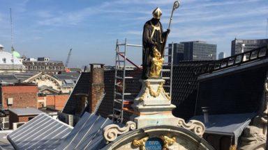 La statue de Saint-Nicolas fait son retour ce mardi sur la Grand-Place