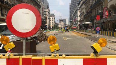 Bruxelles : le piétonnier du centre entre dans une nouvelle phase de son chantier