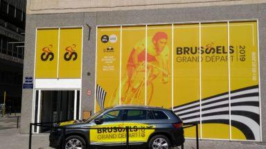 Tour de France 2019 : le quartier général du Grand Départ inauguré place De Brouckère