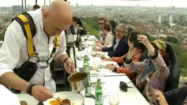 7ème édition de Dinner in the Sky : un challenge de haute voltige pour les chefs